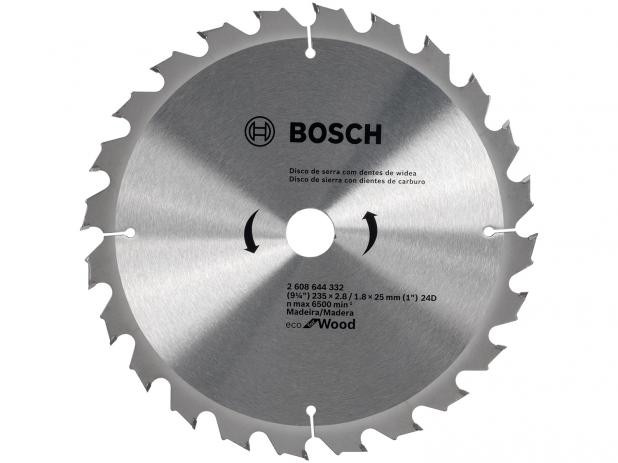 DISCO DE SERRA CIRCULAR ECO FOR WOOD 235MM 24D - BOSCH